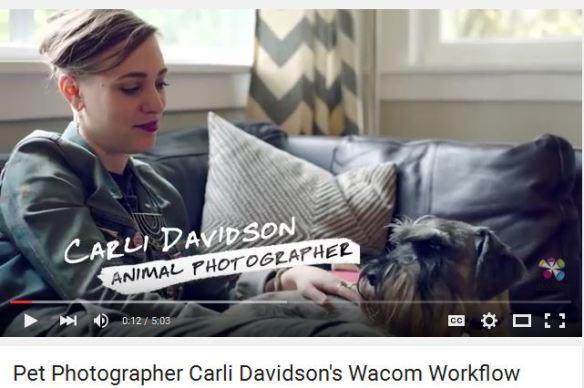 Pet Photographer Carli Davidson Wacom Workflow 2