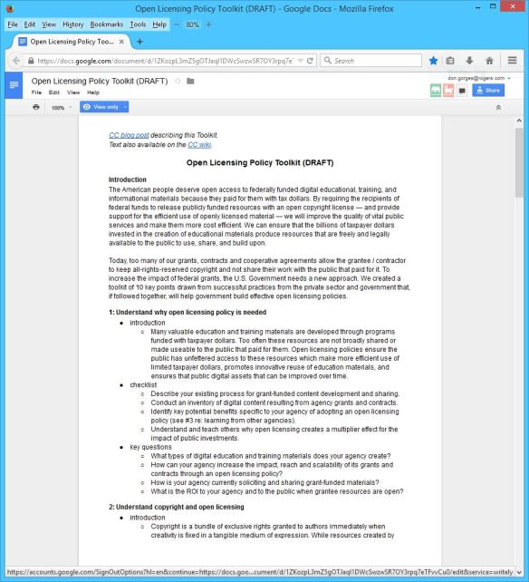 Creative Commons Open Licensing Policy Toolkit 01