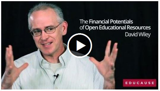 David Wiley Video The Financial Potentials of Open Educational Resources