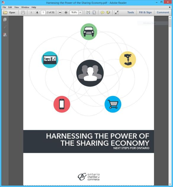 Ontario Chamber of Commerce OCC report - Harnessing the Power of the Sharing Economy 01