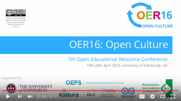 OER16 Jim Groom Can we imagine tech Infrastructure as an OER