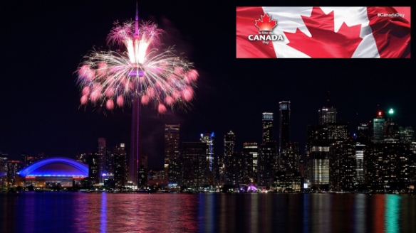 Canada Day Toronto Skyline Fireworks