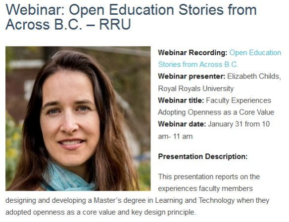 Webinar presenter: Elizabeth Childs, Royal Royals University